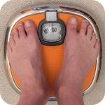 Feet on bathroom scales