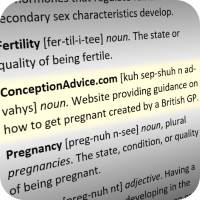Dictionary entries of fertility terminology.